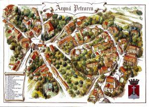 Mappa di Arquà Petrarca uno dei borghi più belli d'Italia