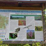 Cartello sentiero Monte Calbarina Arquà Petrarca